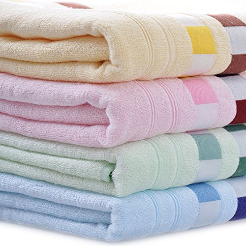 Moolecole 4-Pack: 27inches x 55inches Towels Soft Bamboo Fiber Extra-Absorbent Bath Towels