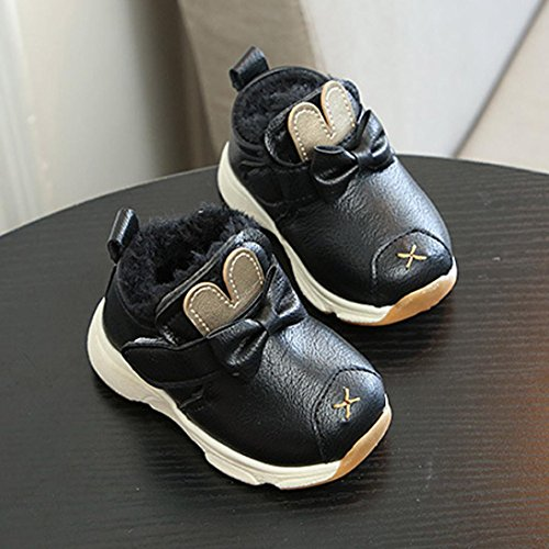 BZLine® Kinder Toddlers Sports Running Baby Shoes Schuhe Sneaker Shoes Schwarz