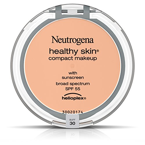Neutrogena Healthy Skin Compact Makeup Foundation, Broad Spectrum Spf 55, Buff 30, .35 (Powder Dispensing Brush)