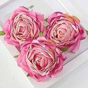 FYYDNZA Artificial Flower Head Retro Rose Head Silk Wedding Arch Away Lead Floral Party Decor,D 114
