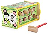 Heo Duluxe Wooden Pounding And Hanmmering Bench, Whack-a-mole With xylophone,Early Development toy,Parent-Child Interaction Toy (Panda)