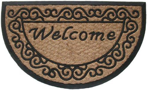 Geo Crafts G129 Tuffcor Doormat, Half Round Welcome Scroll - Geo Door Mat