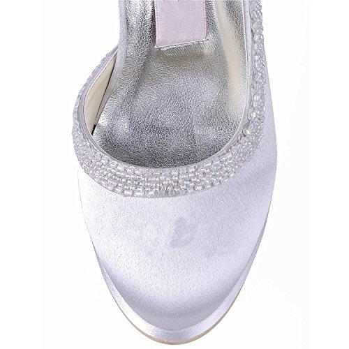 mariage 10cm Heel Minitoo tendance de femme Chaussures White 6BqvRB