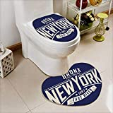 Printsonne Heart shaped foot pad 2 Pieces Set college new york typography t shirt graphics vectors in Bathroom toilet Mats