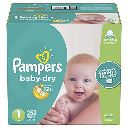 Pampers Baby-Dry–Pañales desechables, Nuevo, 1, 1