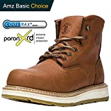ROCKROOSTER Composite Toe Work Boots for Men, Soft Toe Waterproof Safety Working Shoes / AP615, 9-TAN