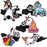 5 Pack Unicorn Lapel Pin Set