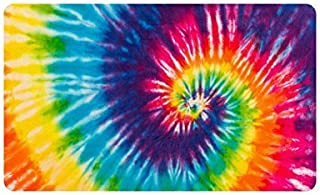 Voxpkrs Colorful Tie Dye Custom Doormat Entrance Mat Floor Mat rug Indoor/Outdoor/Front Door/Bathroom Mats Rubber Non Slip Size 30 x 18