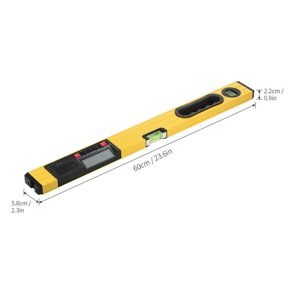 Walmeck 400mm Digital Measuring I-Beam Spirit Level Angle Gauge Finder Torpedo Level with Magnetic Base Backlight LCD Display by Walmeck-1 (Image #3)