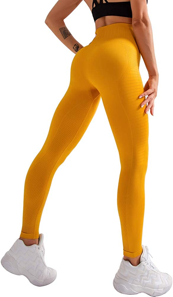 SARCOURA Yoga Pants for Women High Waisted Workout Leggings Soft Tummy Control 4 Way Stretch Moisture Wicking