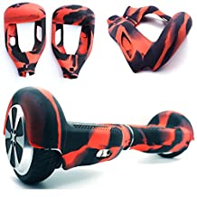 """Silicone Case Cover for 6.5"""" Smart Self Balancing Scooter (Red/Black)"""