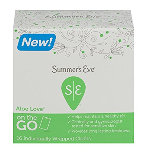 Summers Eve Soft Cloths (Summer's Eve Sensitive Skin Cleansing Cloths, Aloe Love, 16 Count (Pack of 2))