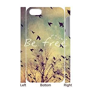 Be Free Unique Design 3D Cover Case for Iphone 4,4S,custom cover case ygtg581667