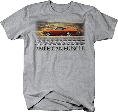 American Muscle Chevy Nova Chevelle SS Orange Muscle Car Tshirt - XLarge