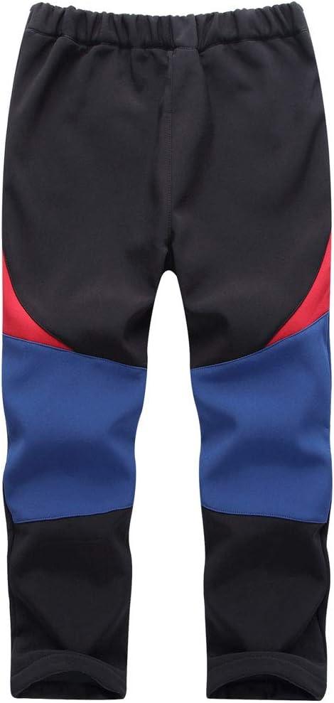 CAMLAKEE Pantalones Senderismo Ni/ño Pantalones Trekking Ni/ña Impermeables Pantal/ón Softshell Transpirable Pantalon de Escalada