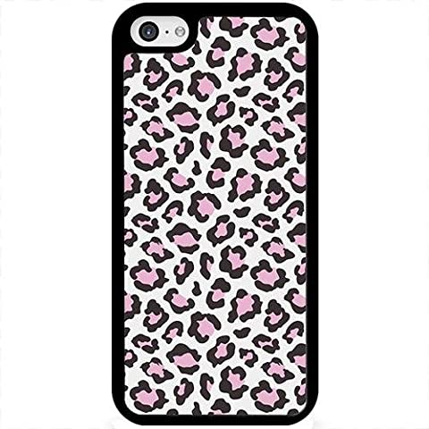 Light Pink Leopard Cheetah Black Case Cover For Apple iPhone 5 5S 5SE with Free Pouch (Iphone 5 Cases Cheetah)