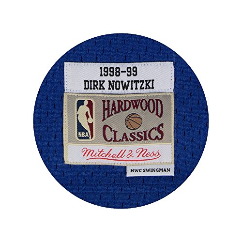 0adb4bead Amazon.com   Mitchell   Ness Dirk Nowitzki 1998-99 Dallas Mavericks Blue  HWC Swingman Jersey   Sports   Outdoors
