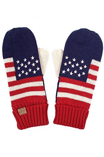 scarvesme CC Patriotism American Flag大人用ミトン手袋