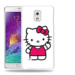 Case88 Designs Hello Kitty Collection 0623 Protective Snap-on Hard Back Case Cover for Samsung Galaxy Note 4