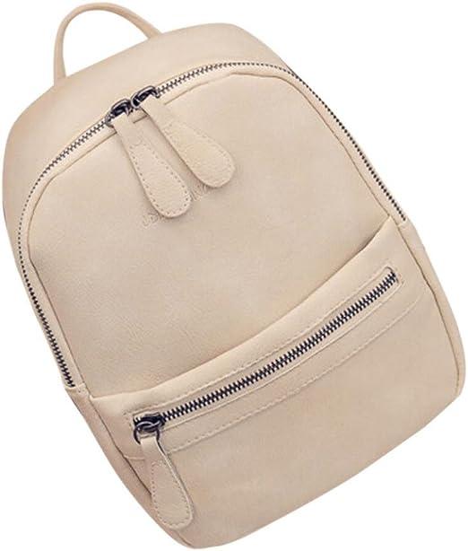 Women PU Leather Shoulder Bag Backpack Girl School Travel Rucksack Purse Bookbag