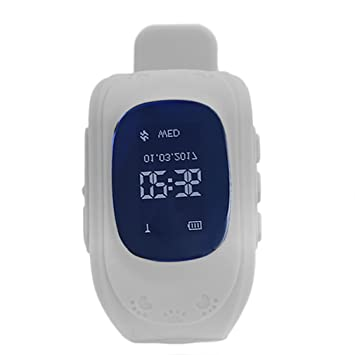 Pro Q50 niños Smartwatch OLED GPS Tracker pulsera anti-lost SOS Padres Control para Android GPS niños reloj de pulsera Sleep Tracker para Niños niñas: ...