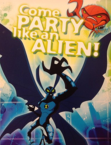 "8 Count ""Ben 10 Alien Force"" Come Party Like an Alien! Fill-in Party Invitations"