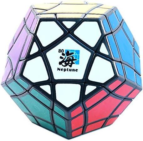 Neptune MF8 Bermuda Megaminx Black Dodecahedron Puzzle Cube Twisty Puzzle BermudaMinx Toy