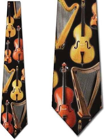 String Instruments Tie Mens Neckties by Three Rooker