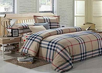 CottonCanvas Satin Burberry Print Cotton Bed Sheet With Pillow - Invoice sheets free download burberry outlet online store