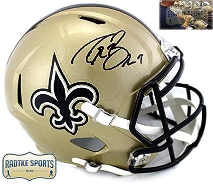Drew Brees Autographed Signed New Orleans Saints Riddell Speed Full Size NFL  Helmet 7ec17faa2