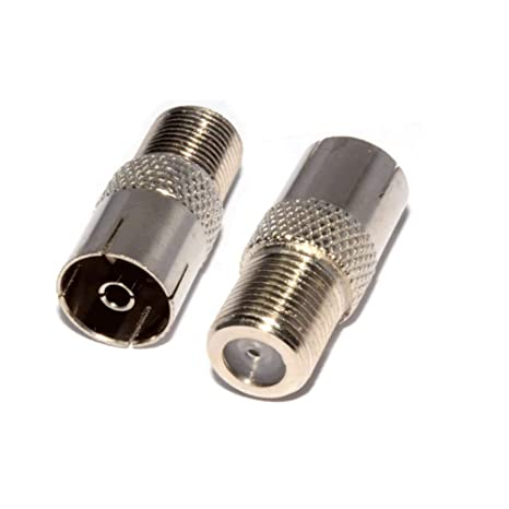 Pack de 2 adaptadores Tipo F para Conector de Rosca Tipo F a Adaptador de Antena