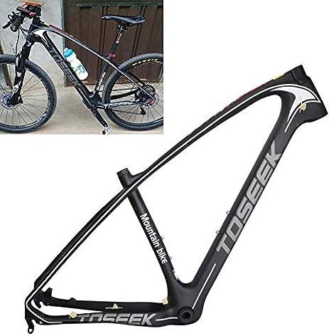 De carbono cuadro de la bicicleta de la fibra LOGO gris BTT ...