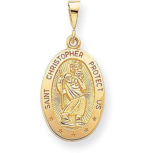10k gold st christopher medal - 4