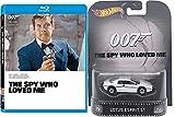 James Bond The Spy Who Loved Me Blu-Ray with Hot Wheels Retro Entertainment Lotus Esprit S1 Die-cast 1:64 Car Bundle