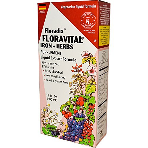 Salus-Haus Floradix Floravital Iron Plus Herbs Supplement Liquid Extract Formula, 17 Ounce by - Ounce 17 Liquid