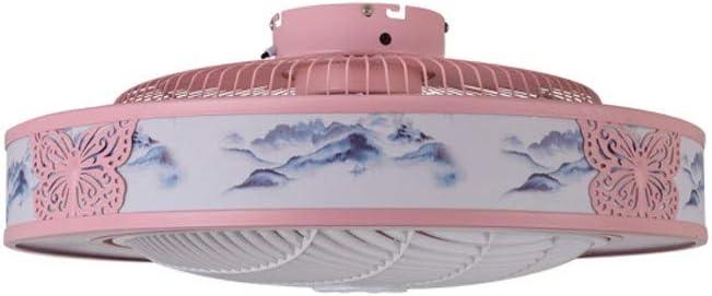 MYXMY Ventilador de Techo Ventilador de Techo LED Luz Lámpara Moderna for el Dormitorio Sala de Estar con Juego de Luces LED y el Control Remoto de Techo Invisible luz del Ventilador (Color : B)