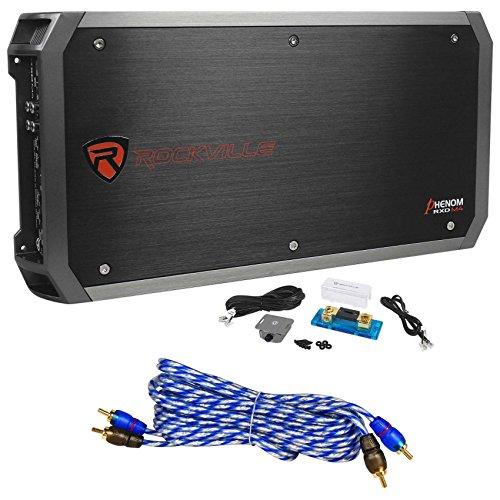 Rockville RXD-M4 6000 Watt/3000w RMS Mono Class D 1 Ohm Amplifier Car Stereo Amp (3000 Amplifier Mono Watt Amp)