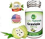 Pure Graviola Extract Supplement 650mg - (100 Count) ★ Soursop (Annona muricata) ★ Boosts Immune System ★ Antioxidants ★ Each capsule contains 650 mg of pure graviola powder from graviola leaves