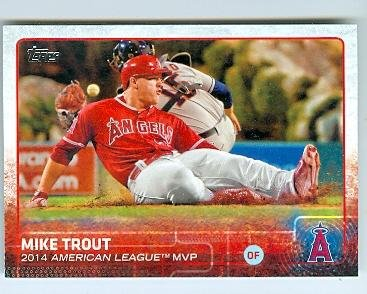 Mike Trout Baseball Card Los Angeles Angels 2015 Topps