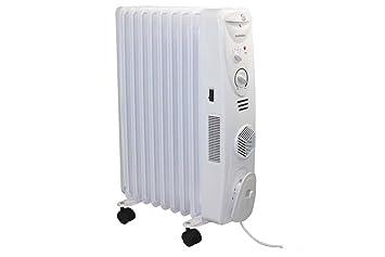 Silvercrest - Radiador de aceite (2500 W, con 3 ventiladores): Amazon.es: Bricolaje y herramientas