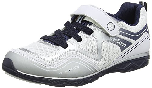 pediped Baby Flex Force Sneaker, White, 25 E EU Toddler (8.5 US)