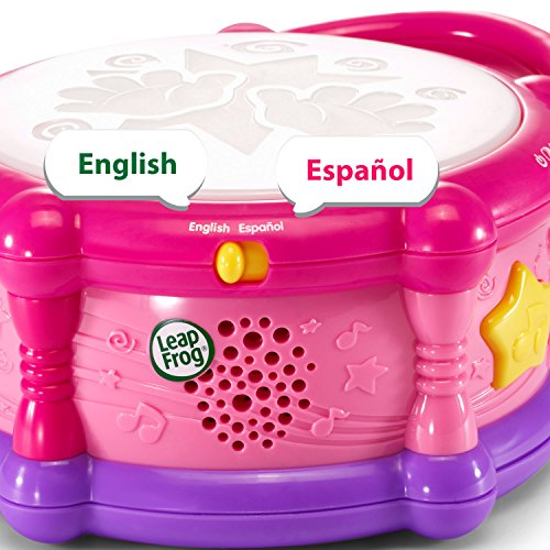 51EAdbH8KUL - LeapFrog Learn & Groove Color Play Drum Bilingual, Pink (Amazon Exclusive)