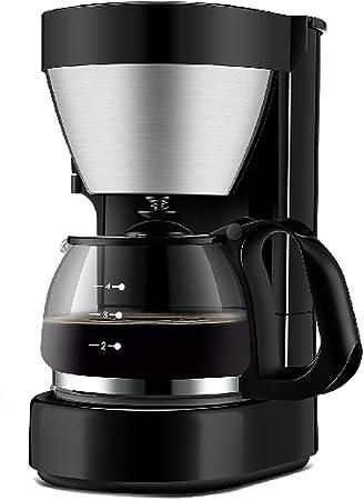 R-LKK Cafetera, Filtro de café Máquina de café Negro y acero inoxidable cepillado de la