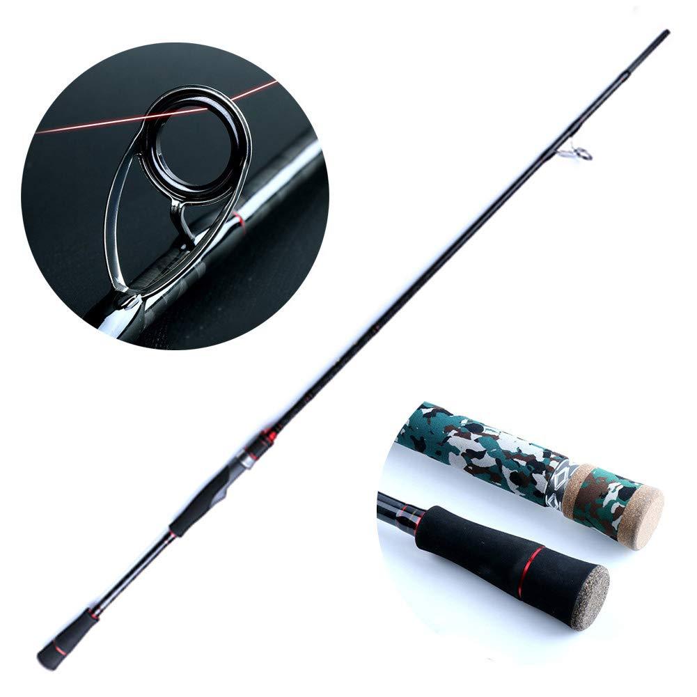 黒魚のためのXH調性釣り、ポータブル釣り竿コンボ高密度カーボンウルトラライト草地用  Straight B07QK97Y43