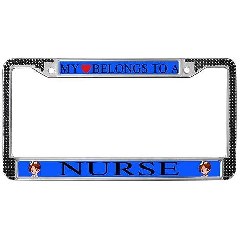 Amazon.com: GND Nurse Quotes License Plate Frame Black ...