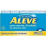 Aleve Pain Reliever/Fever Reducer Caplets, 100 ea