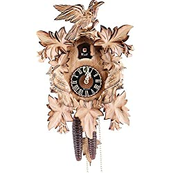 German Cuckoo Clock 1-day-movement Carved-Style 14.00 inch - Authentic black forest cuckoo clock by Hönes
