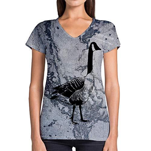 (Idakoos Animal Wildfowl 3D - Women V-Neck T-Shirt Polyester Novelty)