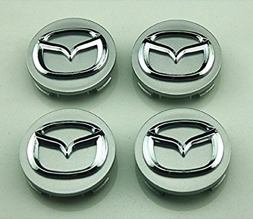 SQKJ 4PCS 56mm Wheel Center Hub Caps Cover for Mazda 2 3 6 ATENZA AXELA CX-5 CX-7 CX-8