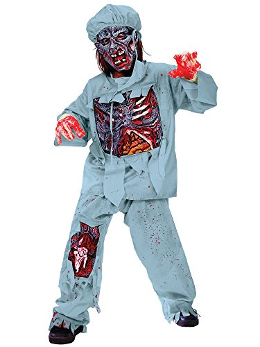 [Zombie Doctor Costume for Children] (Zombie Doctor Childrens Costumes)